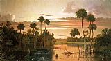 Martin Johnson Heade The Great Florida Sunset painting